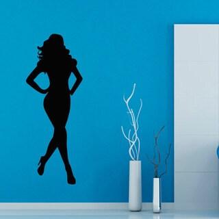Fashion Woman Mural Sticker Vinyl Wall Art