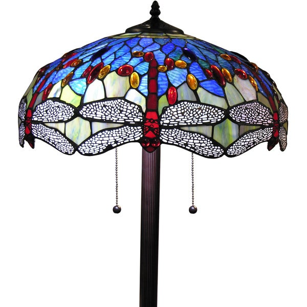 Tiffany-style Azul Dragonfly 18-inch Floor Lamp - Free Shipping ...