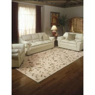 Rug Squared Beaumont Light Gold Floral Rug (3'6 x 5'6)