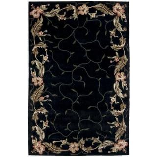 Rug Squared Beaumont Black Rug (3'6 x 5'6)