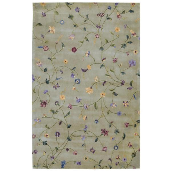 Rug Squared Beaumont Light Green Rug (5'3 x 8'3)