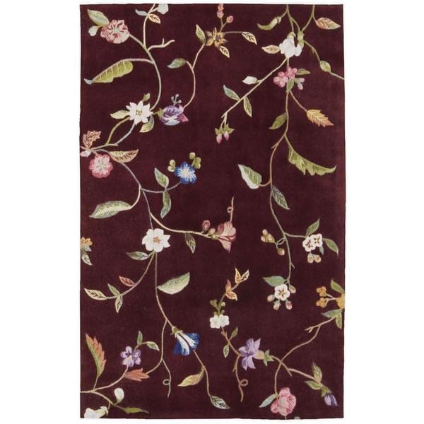 """Rug Squared Beaumont Ruby Rug - 3'6"""" x 5'6"""""""