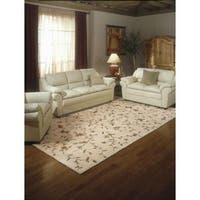 Rug Squared Beaumont Light Gold Floral Rug - 5'3 x 8'3