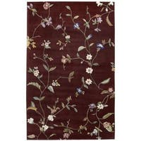 Rug Squared Beaumont Ruby Rug (5'3 x 8'3)