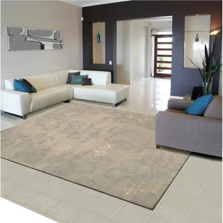Rug Squared Beaumont Grey Floral Rug (5'3 x 8'3)