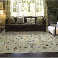 Rug Squared Beaumont Light Green Rug (7'6 x 9'6) - 7'6 x 9'6