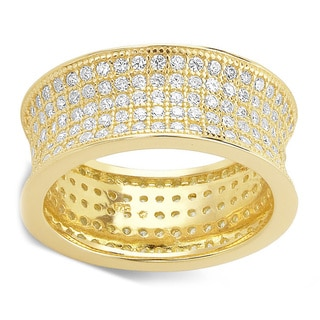 Goldplated Micro Pave Ring