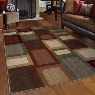 "Virtuous Road Block Multi Area Rug (5'3"" x 7'6"")"