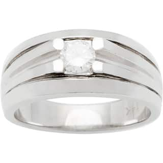 14k White Gold 1/4ct TDW Diamond Solitaire Wide Band Estate Ring (G-H, SI1-SI2)|https://ak1.ostkcdn.com/images/products/10105280/P17245820.jpg?impolicy=medium