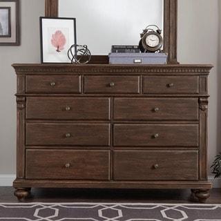 Cristoph Warm Brown 9-drawer Dresser
