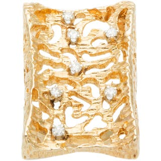 14k Yellow Gold 1/3ct TDW Diamond Giant Nugget Style Estate Ring (I-J, SI1-SI2)|https://ak1.ostkcdn.com/images/products/10105320/P17245851.jpg?impolicy=medium