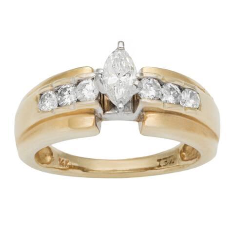 14k Yellow Gold 3/4ct TDW Diamond Estate Engagement Ring (H-I, SI1-SI2)