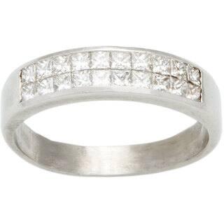 Platinum 3/4ct TDW Invisible-set Diamond Half Eternity Band Estate Ring (G-H, VS1-VS2)|https://ak1.ostkcdn.com/images/products/10105330/P17245860.jpg?impolicy=medium