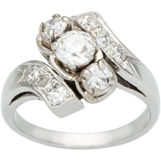 Platinum 1ct TDW Diamond Swirl Estate Ring (H-I, SI1-SI2)