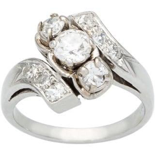 Platinum 1ct TDW Diamond Swirl Estate Ring (H-I, SI1-SI2)