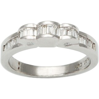 Platinum 1/2ct TDW Baguette-cut Diamond Estate Ring (G-H, VS1-VS2)
