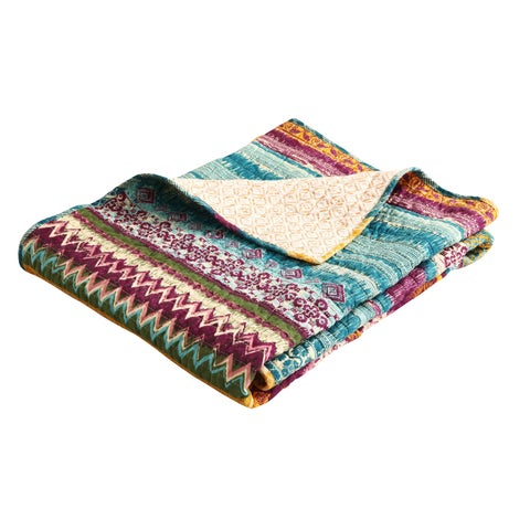 Greenland Home Fashions Southwest Reversible Quilted Cotton Throw