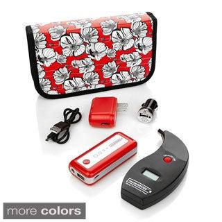 Instacharge Cell Phone Charger - Device Charger Plus Tire Gauge 3000mah 319-913