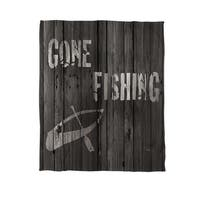 Gone Fishing Fleece Throw