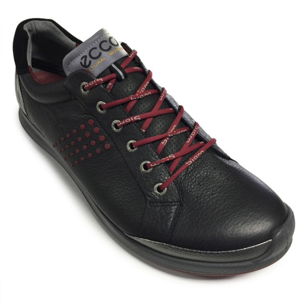 ECCO Men's BIOM Hybrid 2 Spikeless Black/ Silver/ Red Golf Shoes