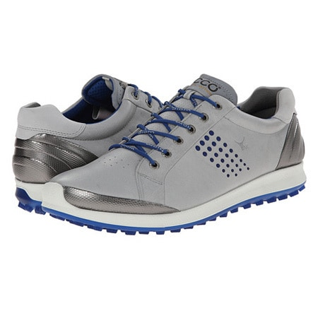 41d2c11b6e06 Shop ECCO Men s Golf BIOM Hybrid 2 Spikeless Grey  Silver  Blue Golf Shoes  - Free Shipping Today - Overstock - 10105454