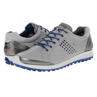 Shop Ecco Men S Golf Biom Hybrid 2 Spikeless Grey Silver Blue Golf Shoes Overstock 10105454