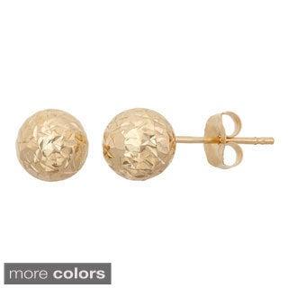 Gioelli 14k Gold 6mm Diamond Cut Ball Stud Earrings|https://ak1.ostkcdn.com/images/products/10105529/P17245999.jpg?_ostk_perf_=percv&impolicy=medium
