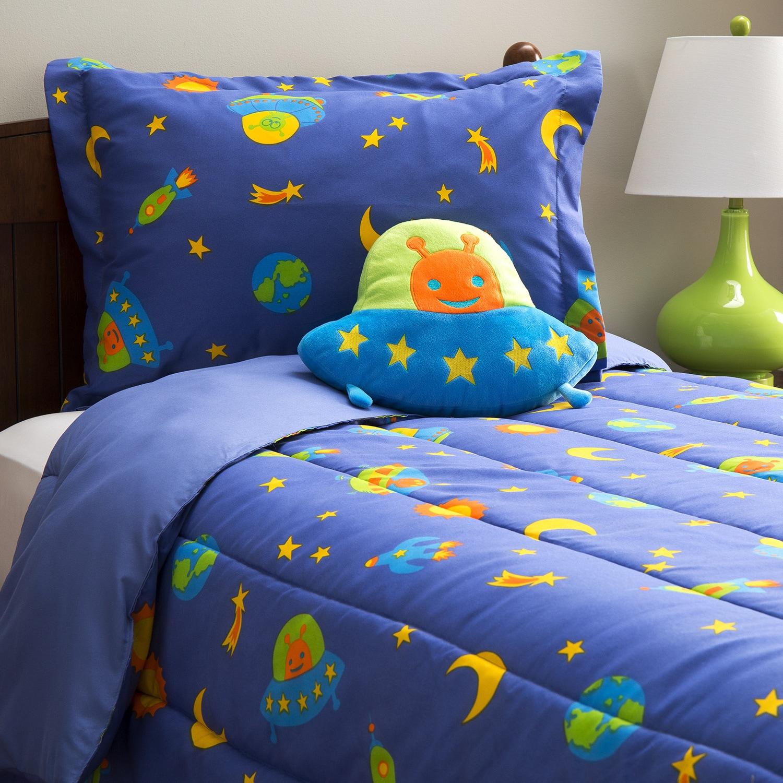 Mytex Alien 4-piece Comforter Set (Twin), Blue (Polyester...