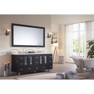 ARIEL Americano 73-inch Double Sink Black Vanity Set