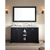 ARIEL Westwood 60-inch Double Sink Black Vanity Set