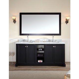 ARIEL Westwood 72-inch Double Sink Black Vanity Set
