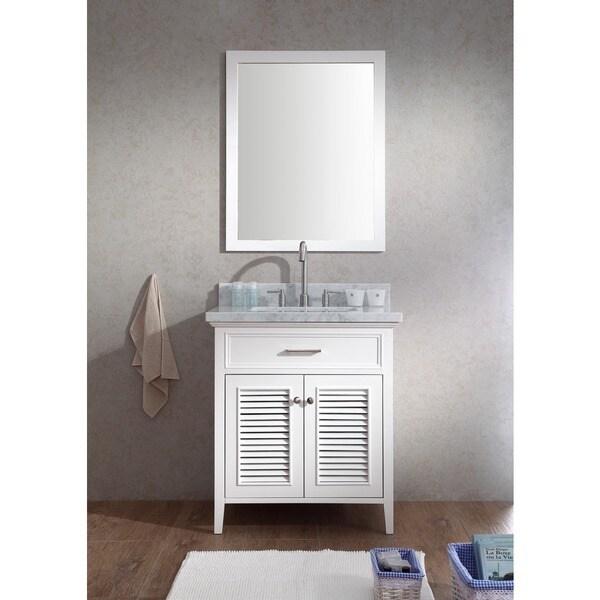 ARIEL Kensington 31 Inch Single Sink White Vanity Set