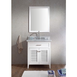 ARIEL Kensington 31-inch Single Sink White Vanity Set