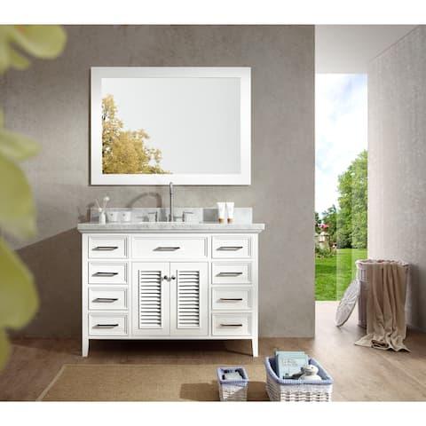 ARIEL Kensington 49-inch Single Sink Vanity Set in White