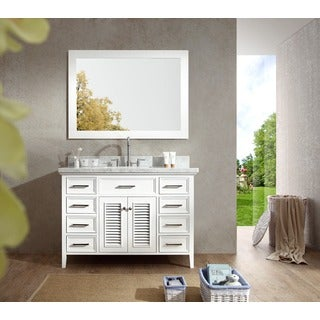 ARIEL Kensington 49-inch Single Sink Vanity Set in White
