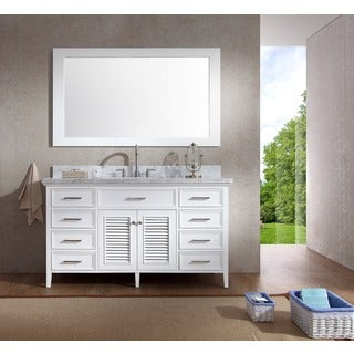 ARIEL Kensington 61-inch Single Sink White Vanity Set