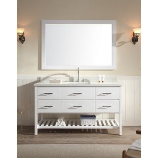 ARIEL Shakespeare 61-inch Single Sink White Vanity Set