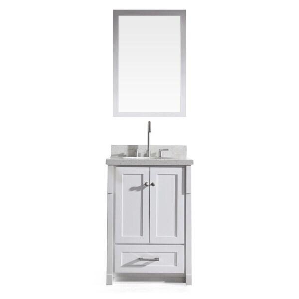 65 Inch Bathroom Vanity Single Sink: Shop ARIEL Adams 25-inch Single Sink White Vanity Set