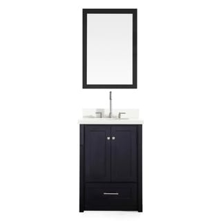ARIEL Adams 25-inch Single Sink Black Vanity Set