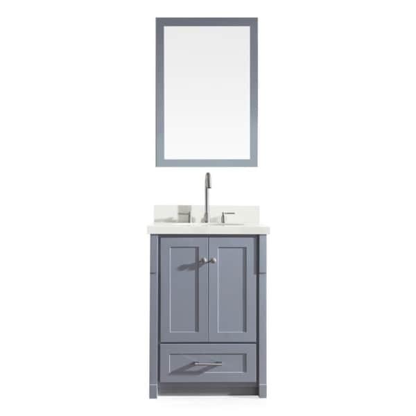 Shop ARIEL Adams 25-inch Single Sink Grey Vanity Set ...