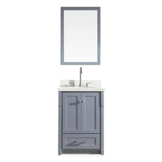 ARIEL Adams 25-inch Single Sink Grey Vanity Set