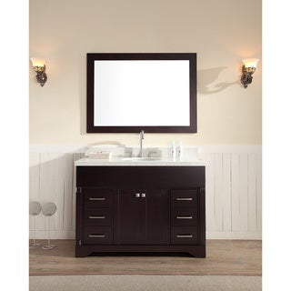 ARIEL Stafford 49-inch Single Sink Espresso Vanity Set