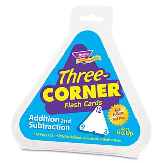 TREND Addition/Subtraction Three-Corner Flash Cards (2 Packs of 48 Flash Cards)
