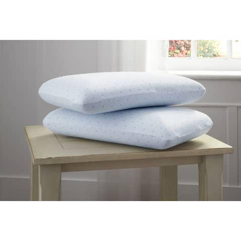 Arctic Sleep Cool-Blue Gel Memory Foam Bed Pillow