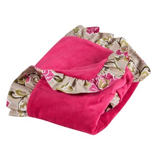 Trend Lab Waverly Jazzberry Receiving Blanket Ruffle Trimmed