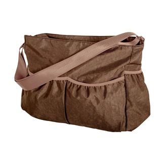 Trend Lab Brown Crinkle Tote Diaper Bag