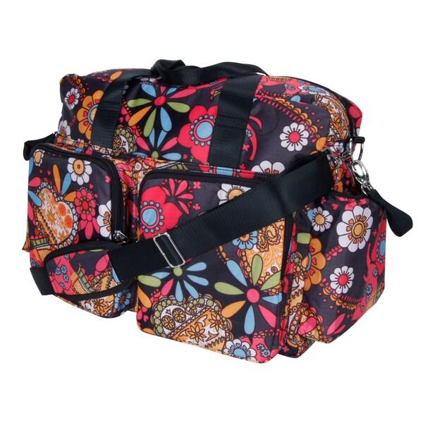 Trend Lab Bohemian Floral Deluxe Duffle Diaper Bag 15319091