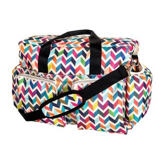 Trend Lab Chevron Deluxe Duffle Diaper Bag|https://ak1.ostkcdn.com/images/products/10105652/P17246119.jpg?impolicy=medium