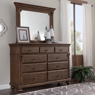 Cristoph Warm Brown 9-drawer Dresser and Mirror
