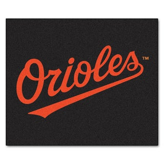 Fanmats Machine-Made Baltimore Orioles Black Nylon Tailgater Mat (5' x 6')